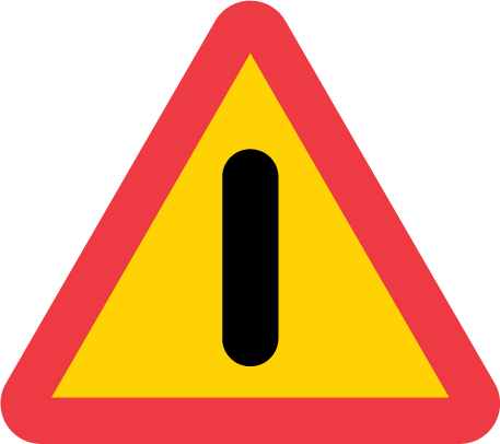 Vägmsärke a40